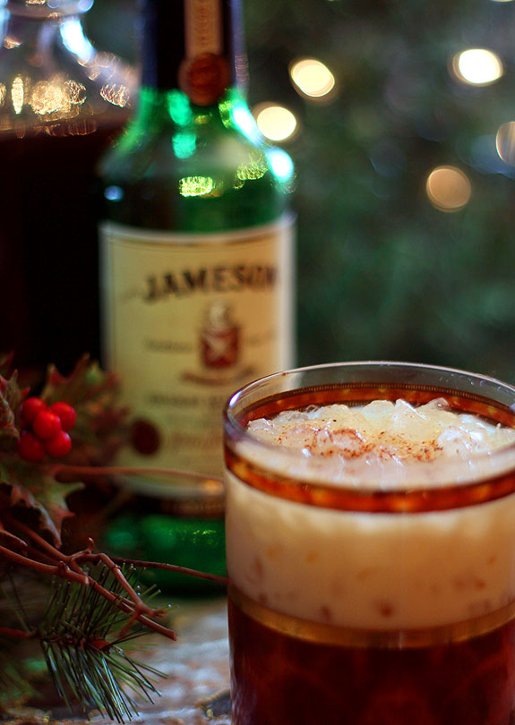 Kahlua eggnog and jameson irish whiskey cocktail for Mixed drink with jameson