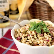 Grilled Corn Salsa with Poblano Chiles, Cilantro and Honey