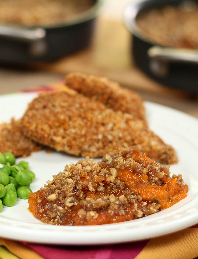 Twice-Baked Jalapeno Sweet Potatoes with Chipotle Streusel Topping