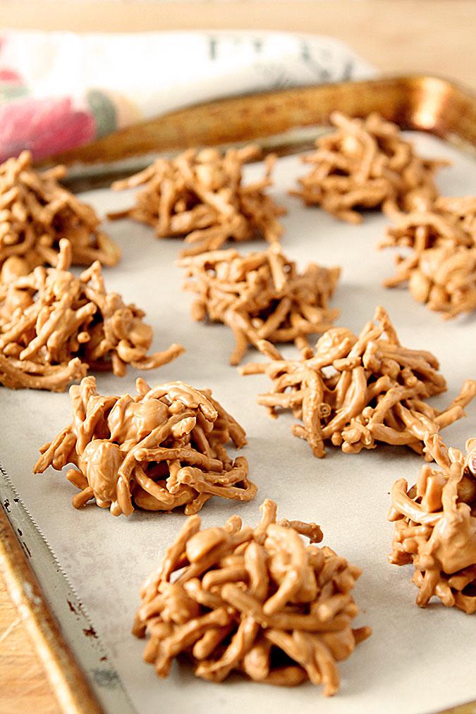 Peanut Butter and Butterscotch Haystacks