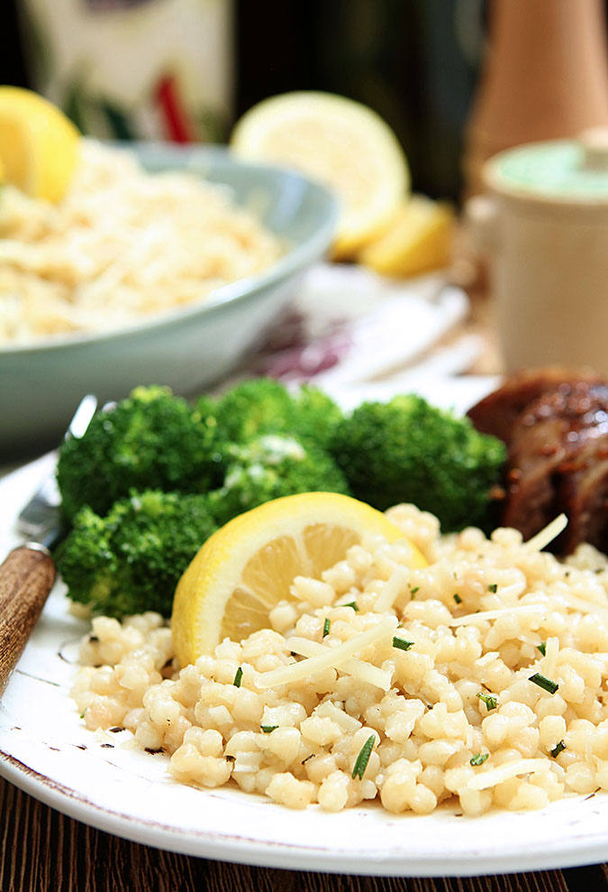 Rosemary and Parmesan Israeli Couscous