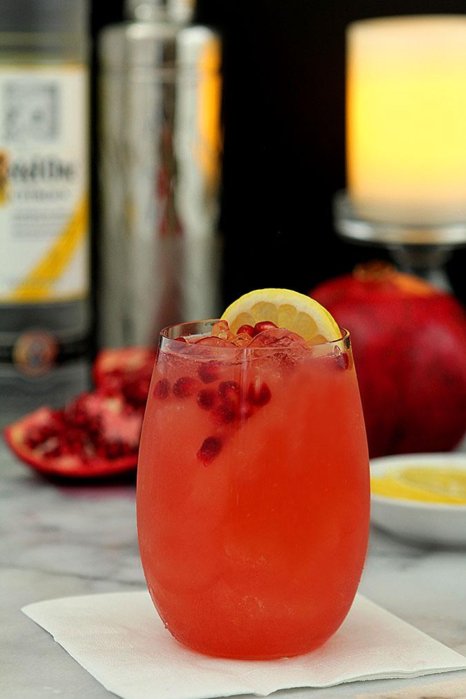 Pomegranate Lemon Fizz