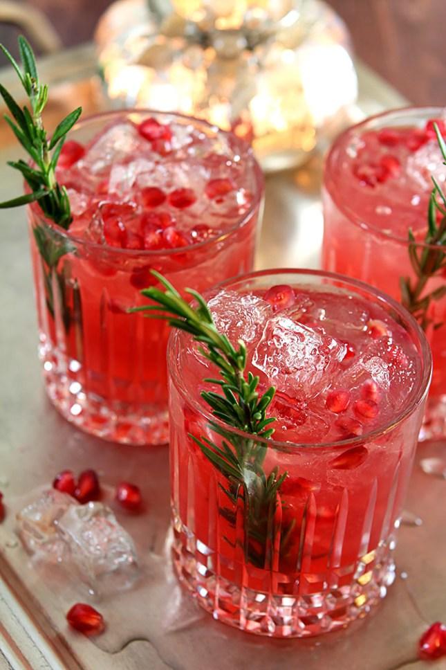 Pomegranate and Rosemary Gin Fizz - Creative Culinary