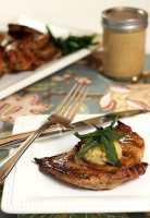 Pork Steakk with Molasses and Mustard