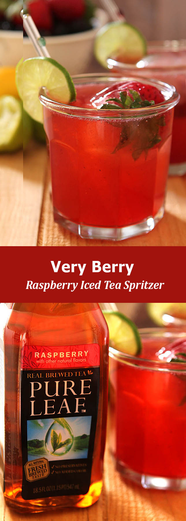 Very Berry Raspberry Iced Tea Spritzer from Creative Culinary