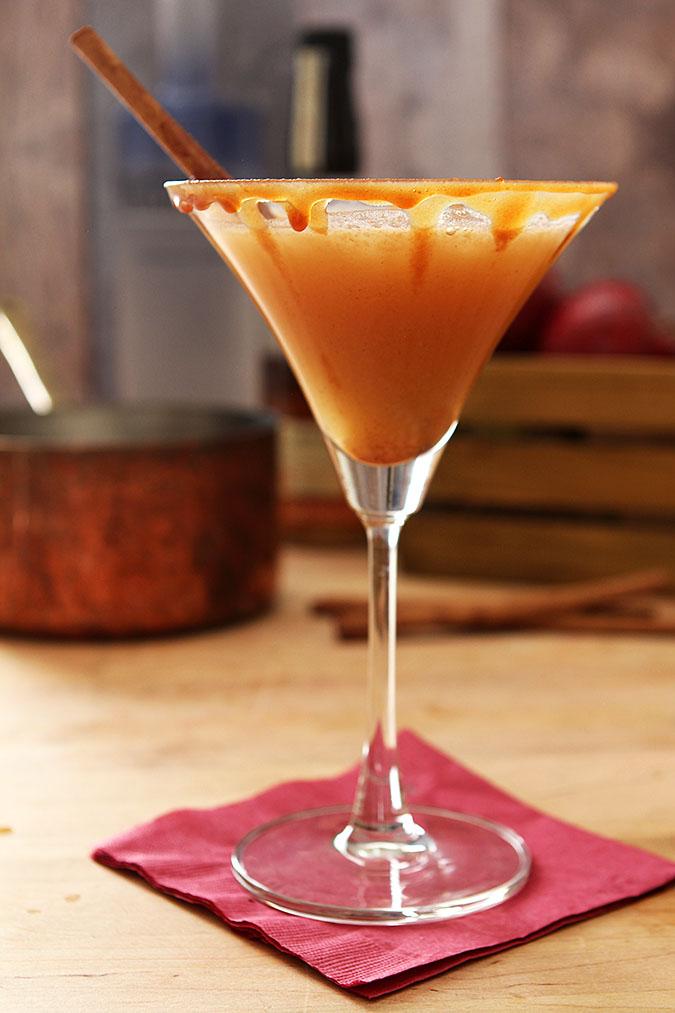 Warm Caramel Apple Martini