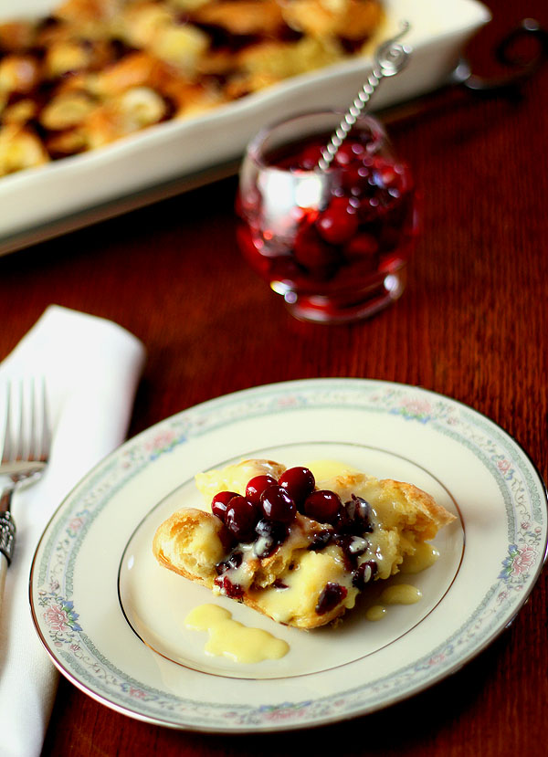 Cranberry and Croissant Bread Pudding with Champagne ...