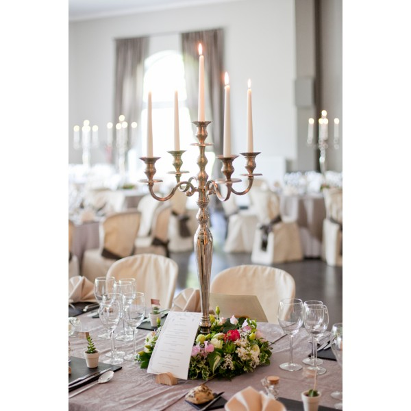 Location Chandelier 5 Branches H 80cm Argent LOCATION