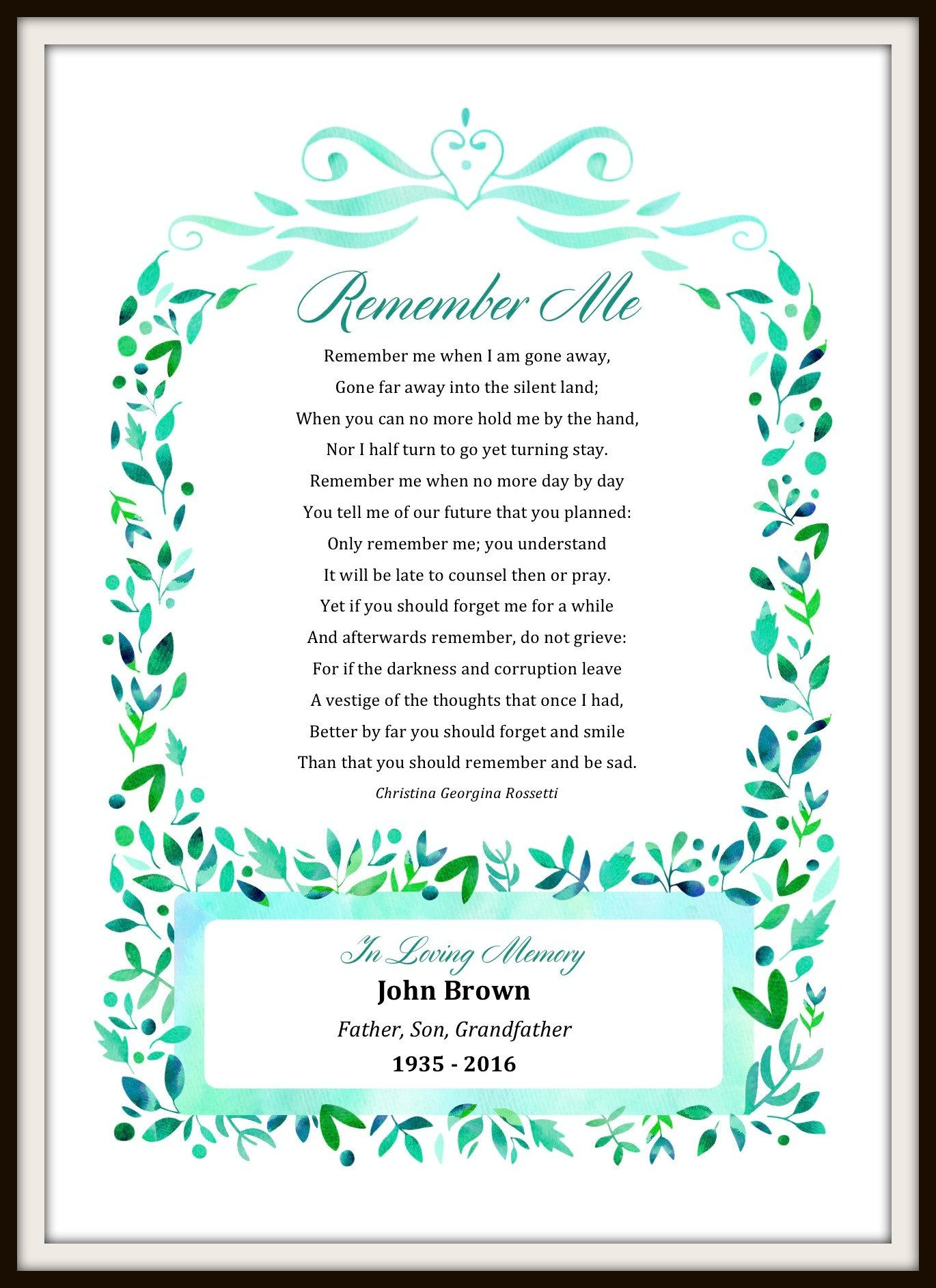 Most Popular Poems For Funerals