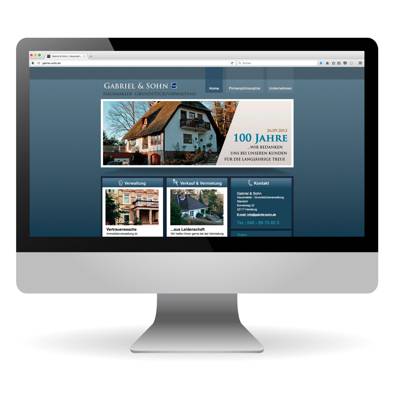 Webdesign | Gabriel und Sohn – Immobilien, Verkauf, Verwaltung, Vermietung