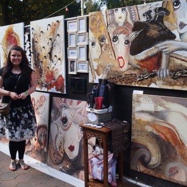 Experimentelle Malerei | Hamburg zeigt Kunst im Stadtpark | Jessica Brandenburger | Creative-Material