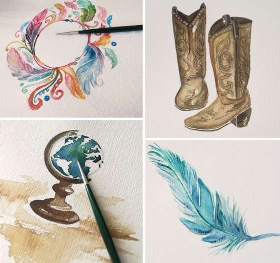 Aquarell Malerei Creative-Material Jessica-Brandenburger