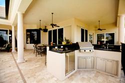 outdoor kitchen lighting heightens