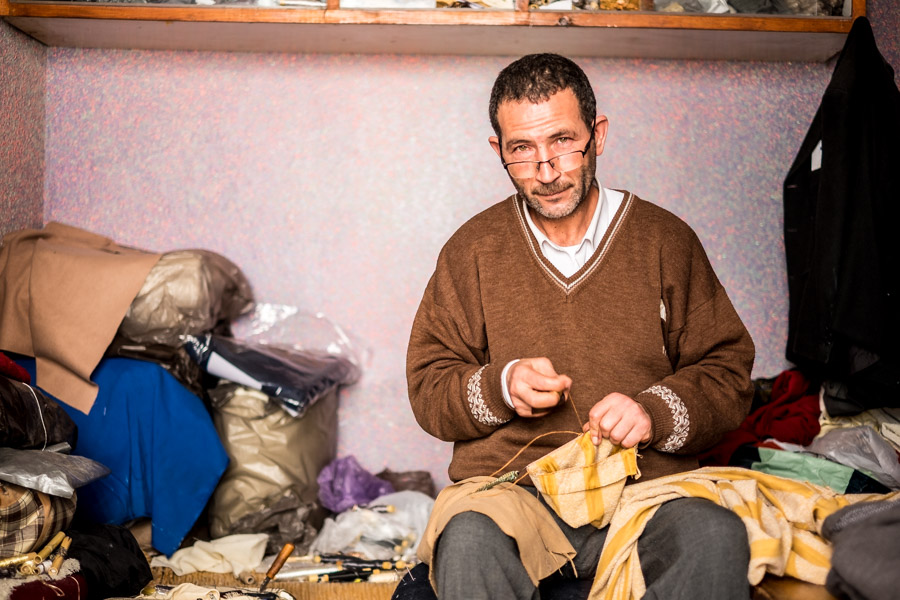 Portrait of a tailor in Chefchaouen, Morocco