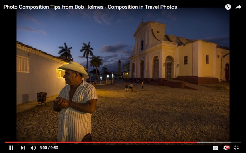 Composition tips video with photographer Bob Holmes