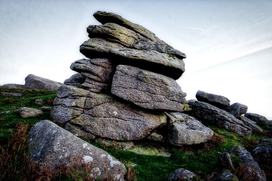 Landscape photo of Sheepstor, Dartmoor, processed in Luminar