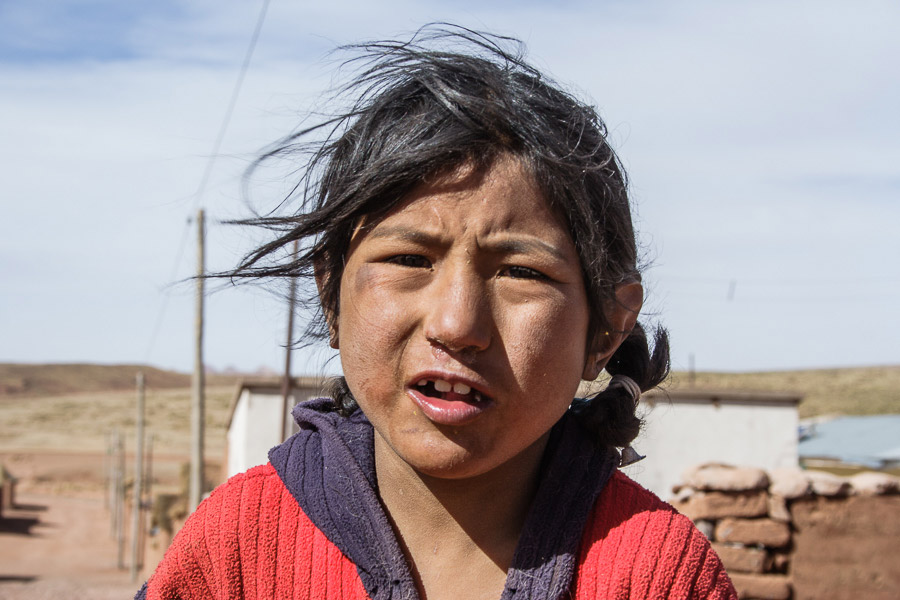 Street photo of children taken in Bolivia