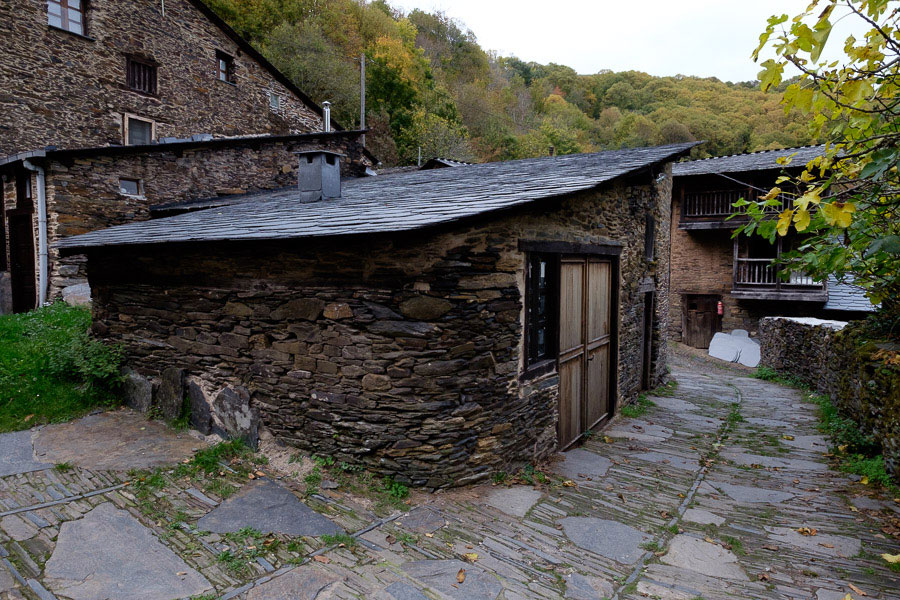 Photo of a mountain village in Galicia, Spain