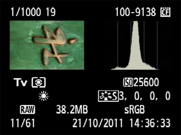 Diagram showing camera histogram