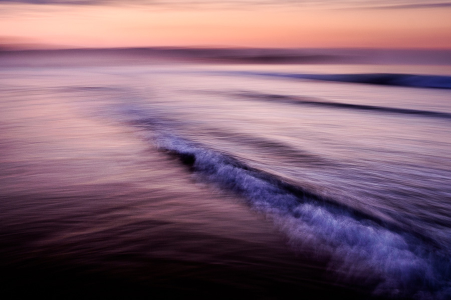 A creative landscape photo made by panning the camera in shutter priority