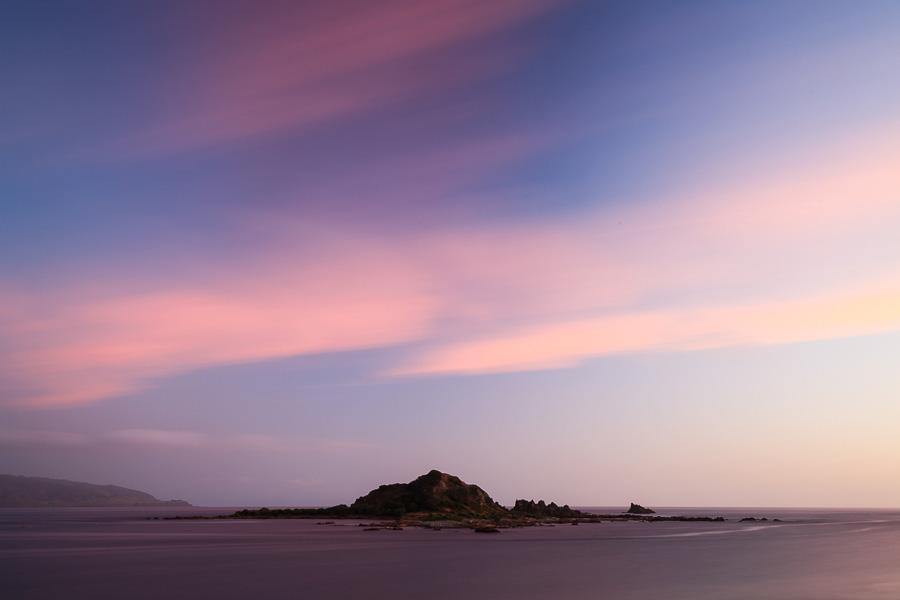 Long exposure photo made in Island Bay, New Zealand using manual mode