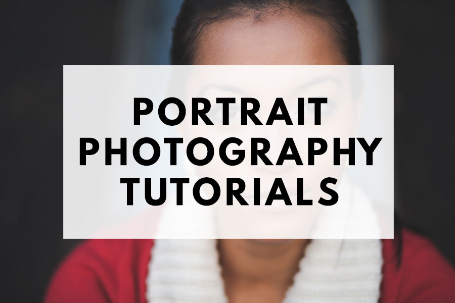 Portrait photography tutorials
