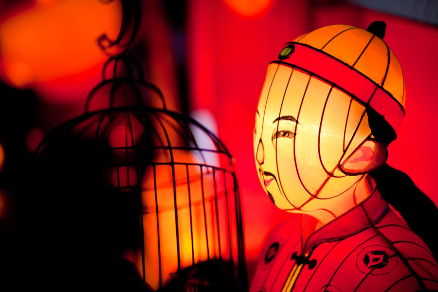 Chinese lantern in low light