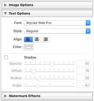 Watermarks in Lightroom