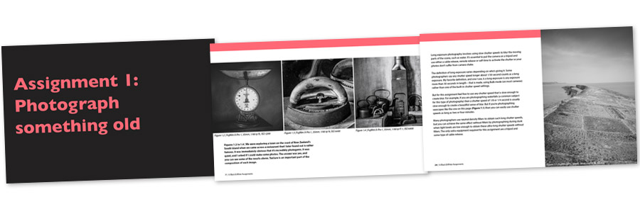 Black and white assignments inside pages