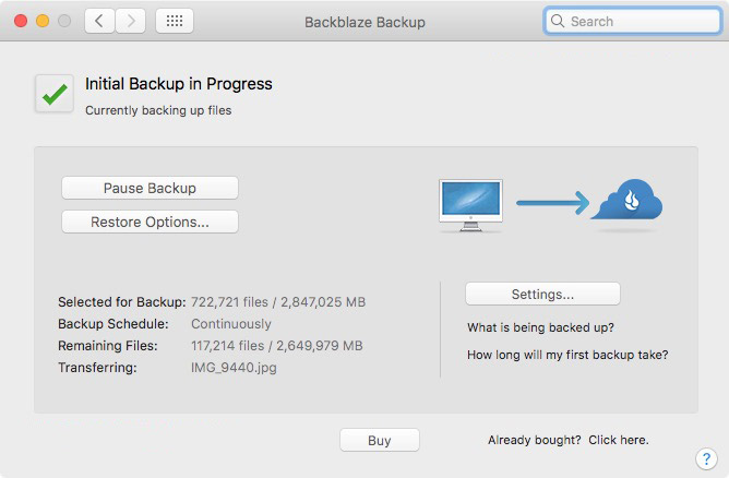 Backing up photos and Catalog