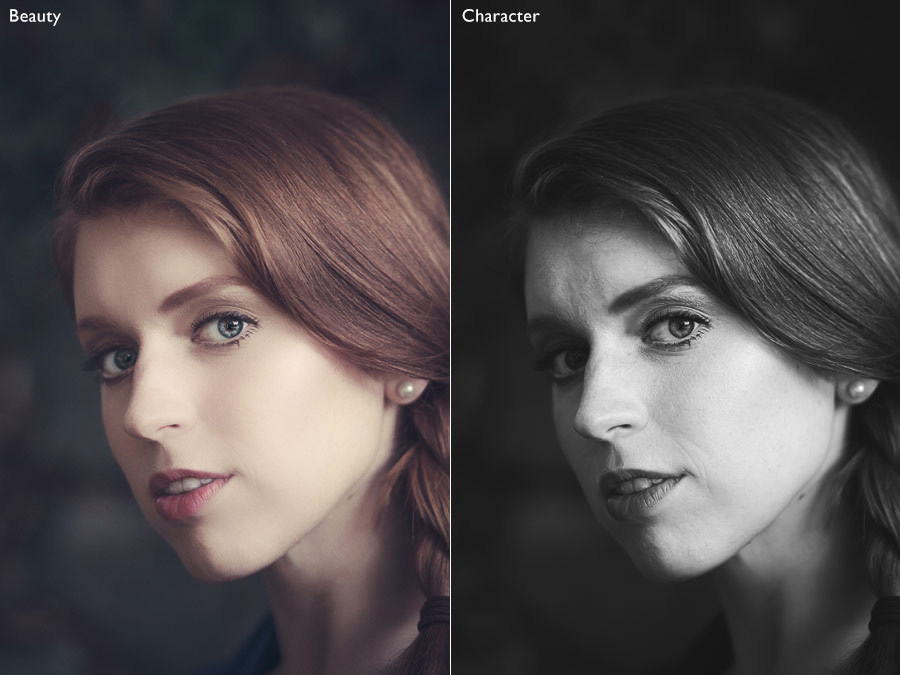 Character and beauty in portraits