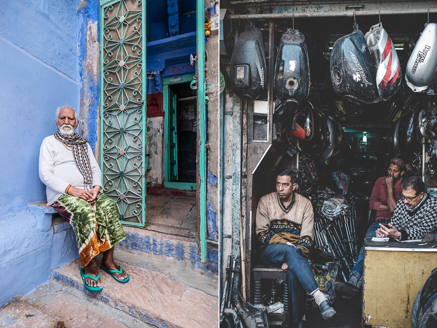 Street portraits in India