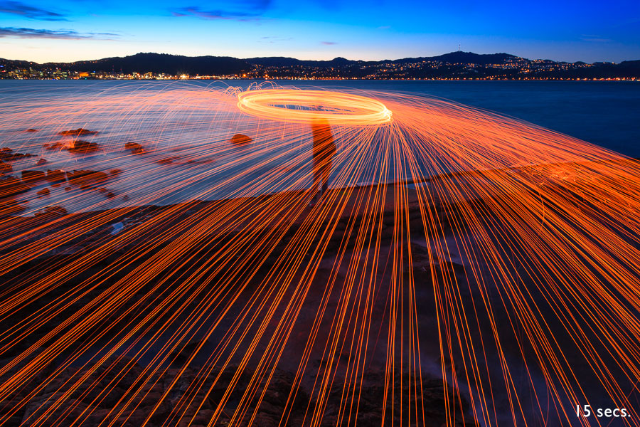 Shutter Priority mode and steel wool spinning