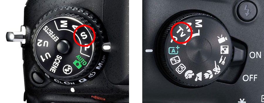 Shutter Priority and the Mode dial