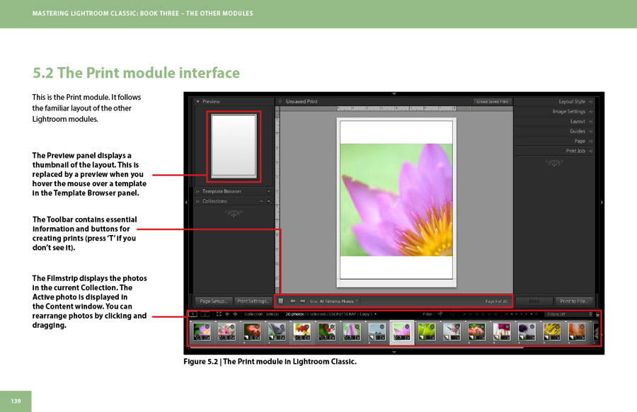 Mastering Lightroom Classic: Book Three – The Other Modules inside page