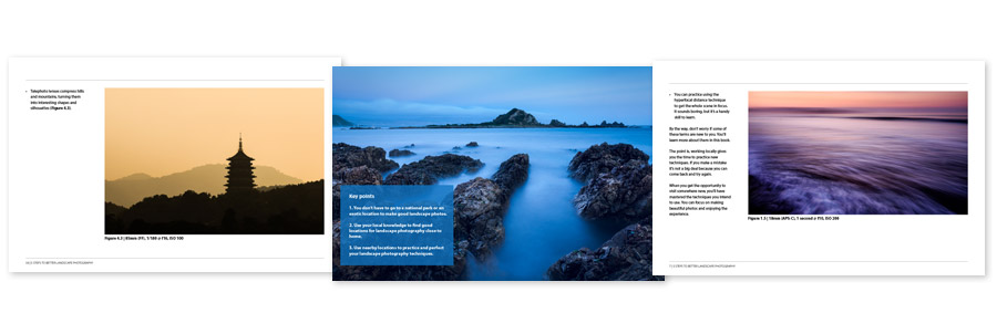 5 Steps to Better Landscape Photography ebook pages