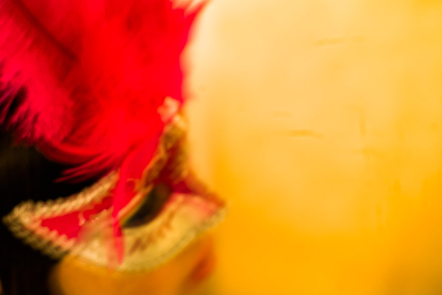 Intentional camera movement portrait