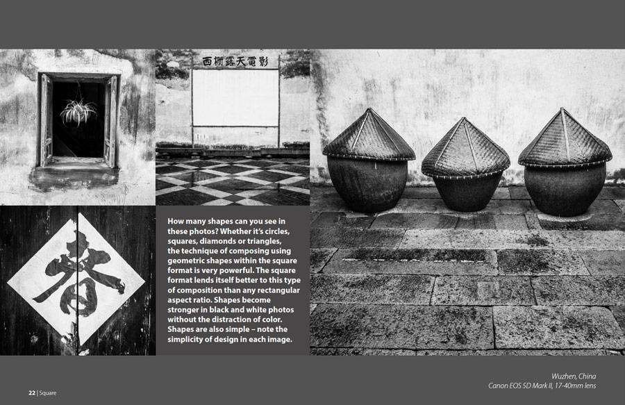 Black & white photo layout