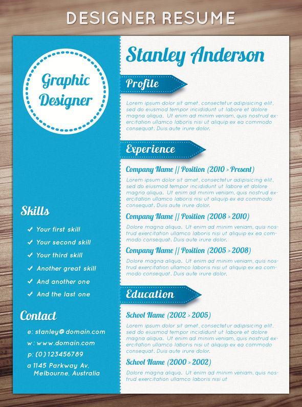 Resume template designs resume sample 21 stunning creative resume templates yelopaper Choice Image