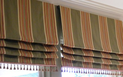 Stationary Hobbled Roman Valance