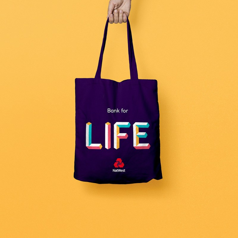 NatWest new brand collateral - tote bag