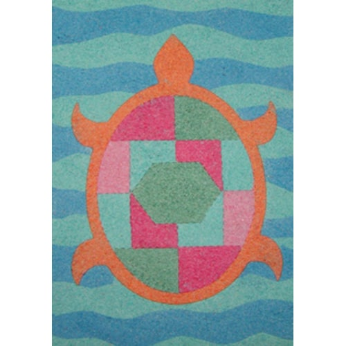 Turtle Sand Art Canvas