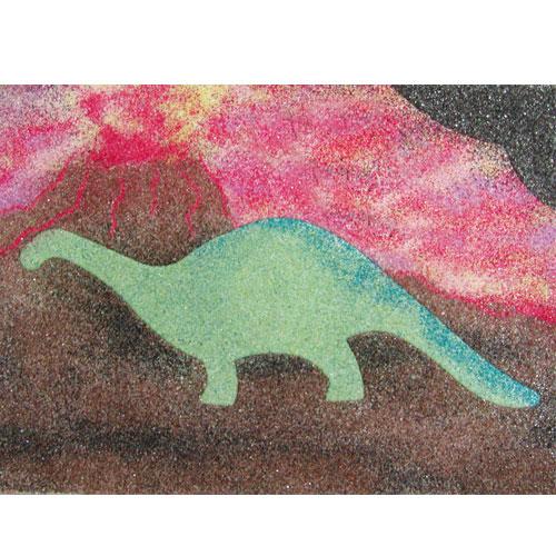 sand art dinosaur