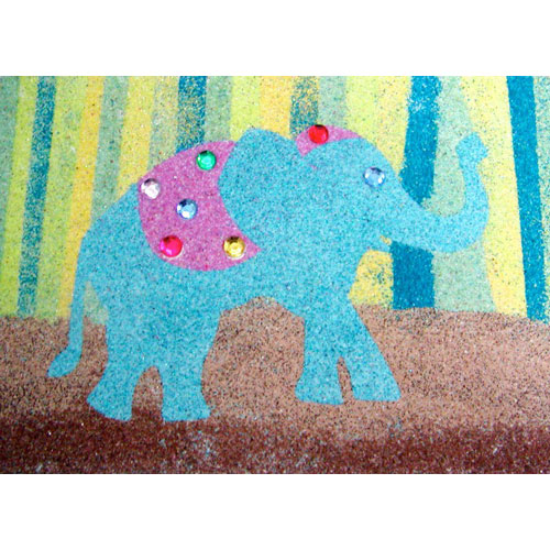 Sand Art Elephant