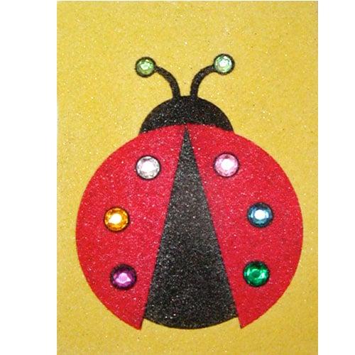 sand art ladybug