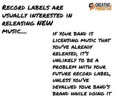Publishers and record labels are usually interested in signing NEW music