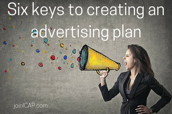 Six keys to creating an advertising plan