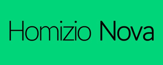 Homizio Nova: Best New Free Fonts 2014