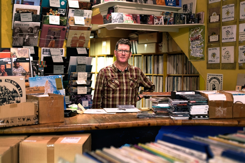 Alan Scholefield – Honest Jon's record shop in London