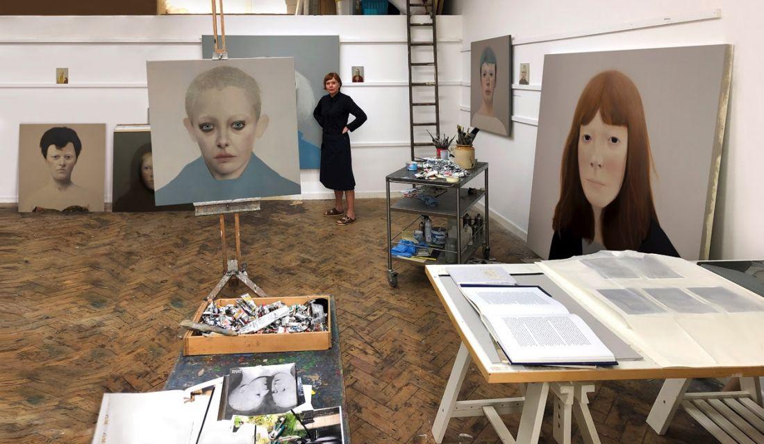 Sarah Ball, Studio, Cornwall, 2019